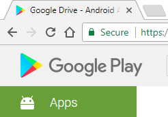Google Play favicon on Google chrome