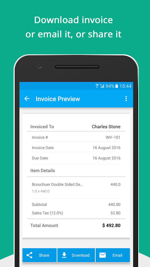 Free Invoice Generator - Android Apps On Google Play