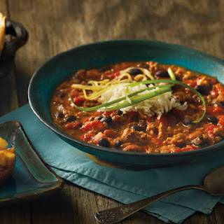 Beef, Pork, and Bean Chili With Apples in a Nest.