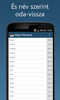 Screenshot of Magyar Névnapok lite