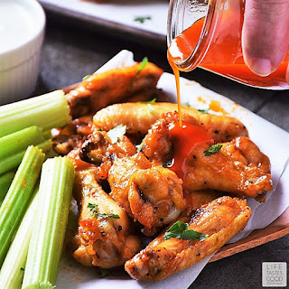 Low Carb Buffalo Wings with Gorgonzola Sauce.