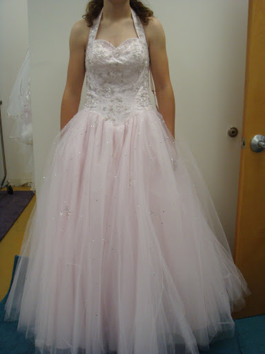 Pink Tulle Wedding Gown Design