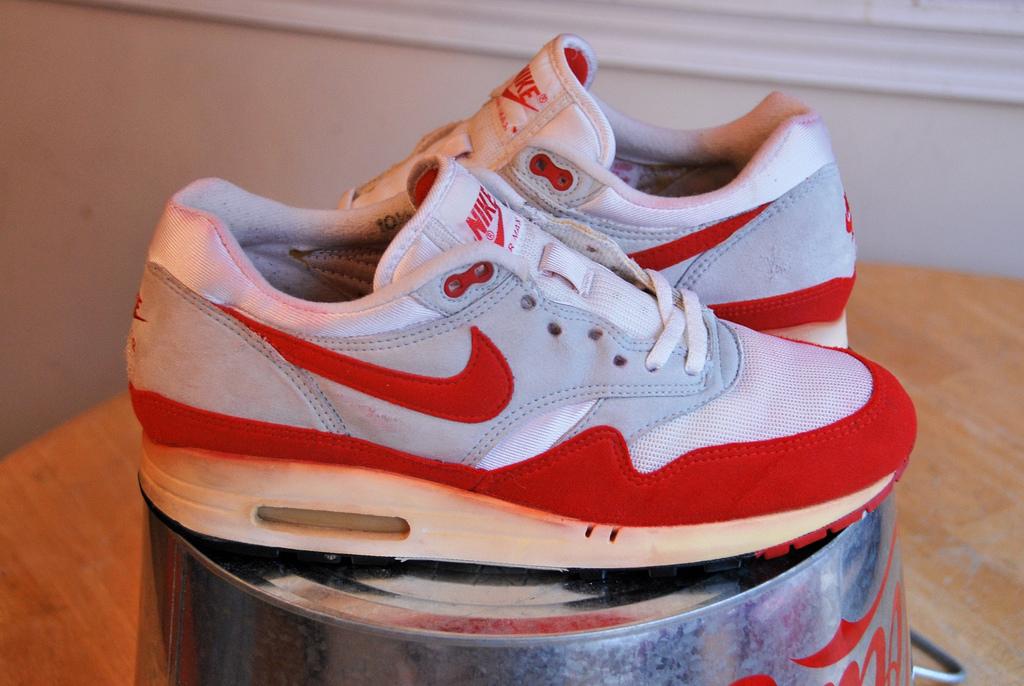 nike air max 1 blancas y rojas