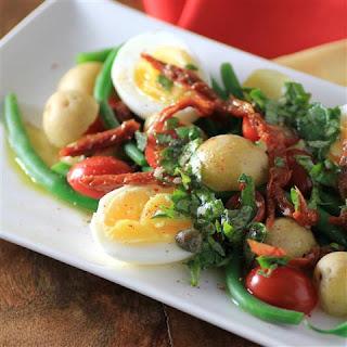 Egg Potato Green Bean Salad #SummerSideUp