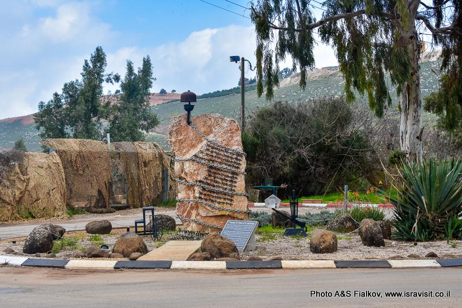Памятник погибшим солдатам. Галилейский палец. Граница с Ливаном. Экскурсия по Галилее.