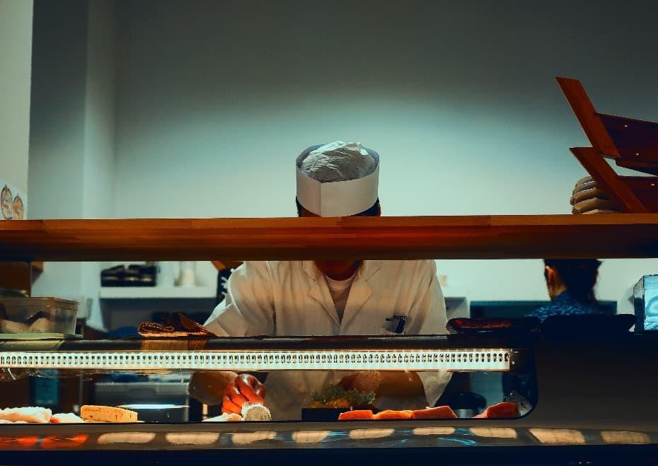 Sushi Meister bei der Arbeit