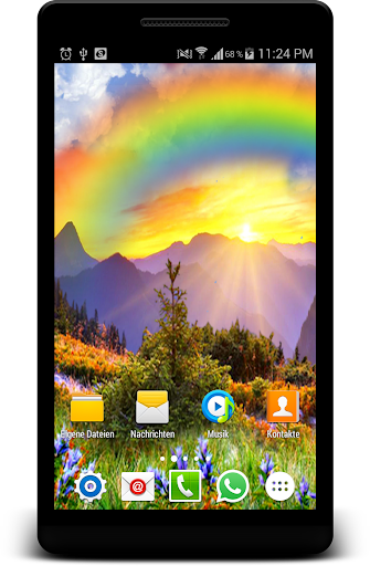 Rainbow Live Wallpaper Rain