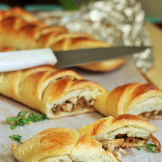 Homemade Chicken Bread Roll-Braided and Stuffed Chicken Bread.