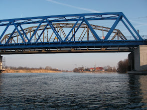 Photo: most Poznański (pod prąd)