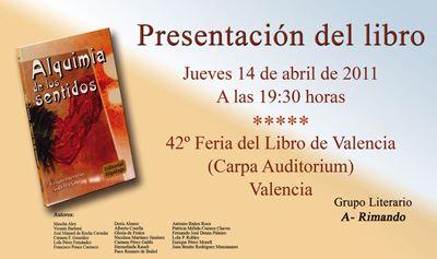 """Presentación del libro """"Alquimia de los sentidos"""""""
