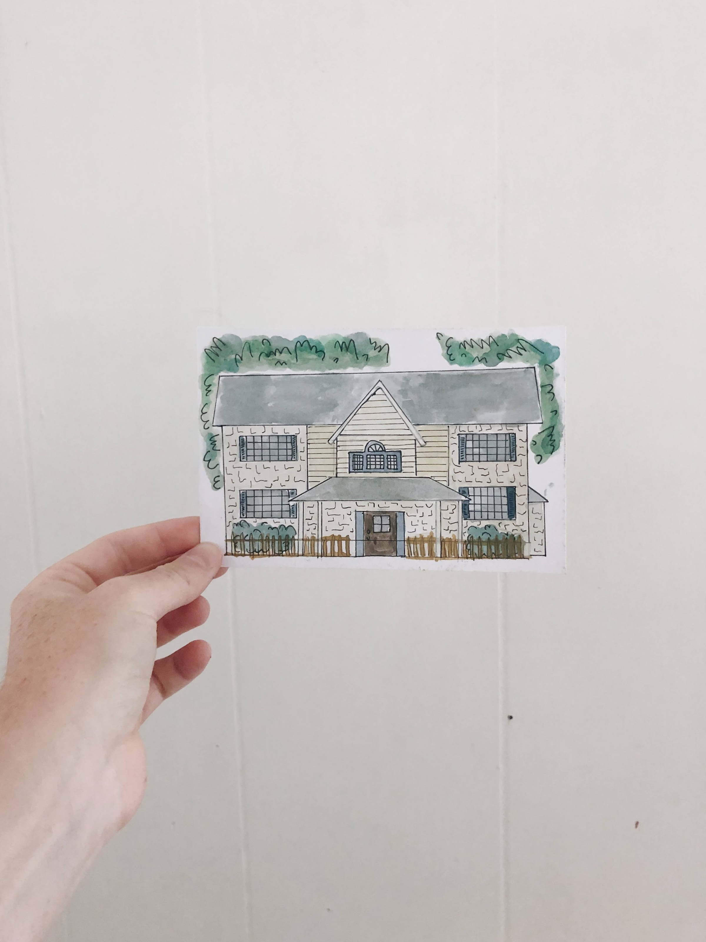 custom watercolored homes