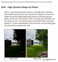 Photo: Sample page from our Smartphone photography class workbook