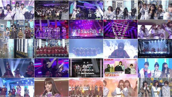 181128 (720p+1080i) AKB48 46G Part – NTV Best Artist 2018