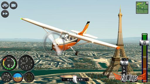 Flight Simulator 2015 Flywings - Paris and France apkpoly screenshots 19