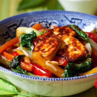 Cambodian Stir Fried Tofu With Amchur.