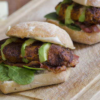 Jerk Chicken and Avocado Burgers