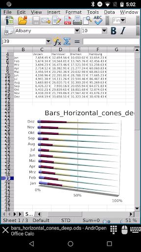 AndrOpen Office 4.2.2 screenshots 3