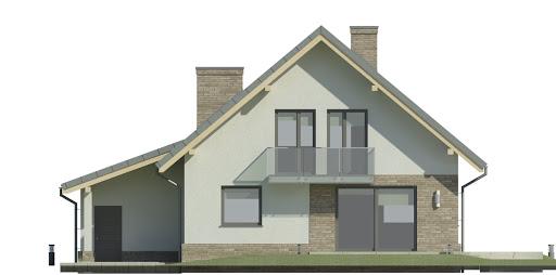 Dom przy Oliwkowej 4 N - Elewacja tylna