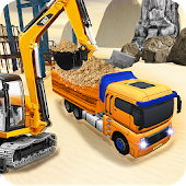 Off-road tractor driving construction simulator 3D