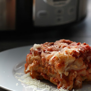 Crock Pot Lasagna With Ground Turkey.