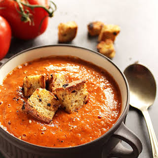 Healing Roasted Tomato and Red Pepper Soup.
