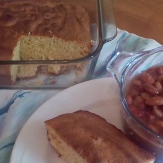 Bean Soup With Ham Bone & Sour Cream Cornbread.