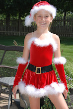 Photo: To buy (CSD016e- I'm Gonna Email Santa) email me at Pam@Act2DanceCostumes.com  $35.00 Qty (1) Size: (1)Child Med.  manufacturer: Curtain Call  Loetard style with attached skirt, gloves and hat.  White boa feathers trim the top, skirt and gloves.  Great for Jazz or Tap.  Paypal/Checks accepted.  $7US shipping, $2 additional items.  7 day returns, same condition.  Thanks!