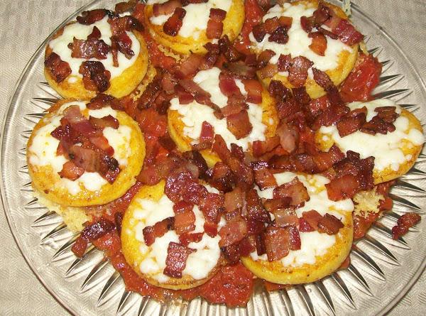 Polenta With Tomato, Bacon And Cheese Recipe