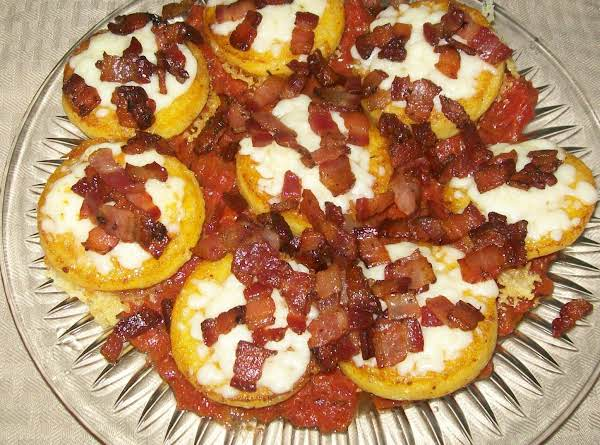 Polenta With Tomato, Bacon And Cheese