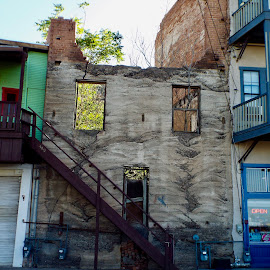 Jerome Mining town by Donna Probasco - Buildings & Architecture Decaying & Abandoned (  )
