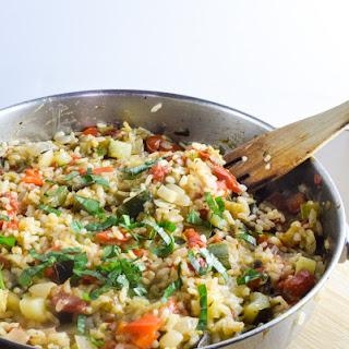 One Pot Ratatouille Rice