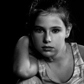 by Kelley Hurwitz Ahr - Black & White Portraits & People ( studio fitness tamara and cara )