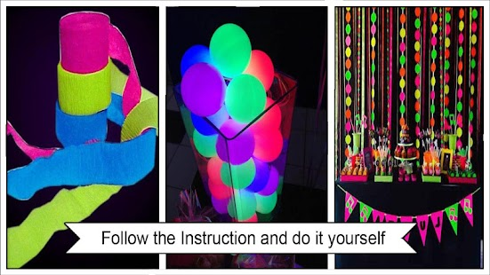 Neon party decoration ideas android apps on google play neon party decoration ideas screenshot thumbnail solutioingenieria Image collections
