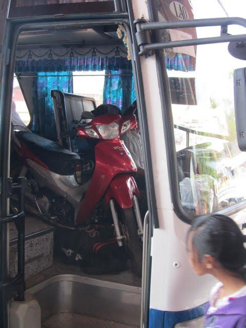 motorbikes in Laos