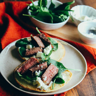 Lamb Chop Pitas {with spinach, feta, and yogurt}