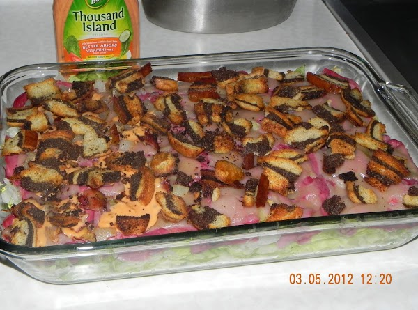 Roasted Reuben Layered Salad Recipe