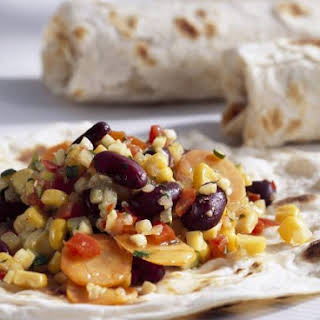 Veggie Wraps with Beans and Corn.