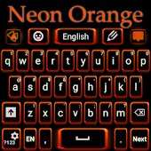 Neon Orange Keyboard