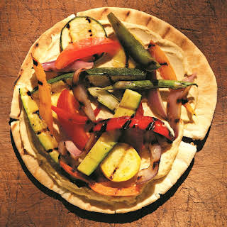 Grilled Vegetable and Hummus Pita Pizza.