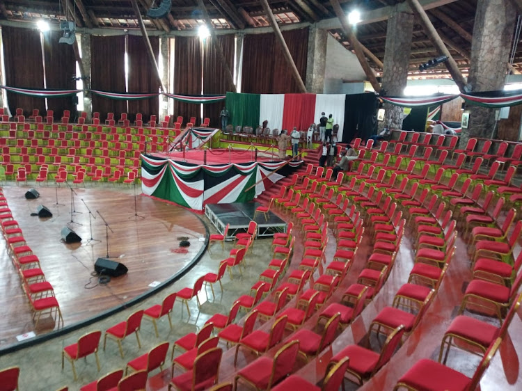 Preparations at the Bomas of Kenya ahead of the official unveiling of the report by President Uhuru Kenyatta and ODM chief Raila Odinga on October 26, 2020.