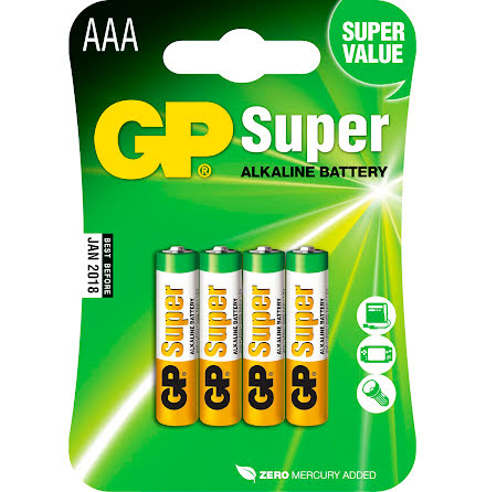 Batteri GP Super AAA/LR03 4/fp