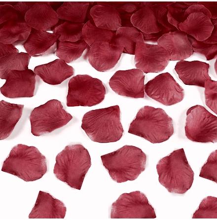 Rosenblad silke - Vinröd 500 st