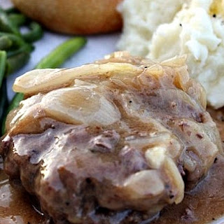 Hamburger Steak with Onions & Gravy.