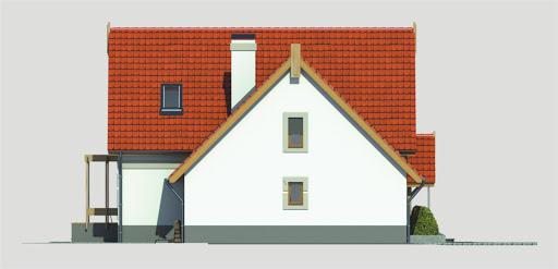 Aida wersja B poj. garaż i pokój nad garażem - Elewacja lewa