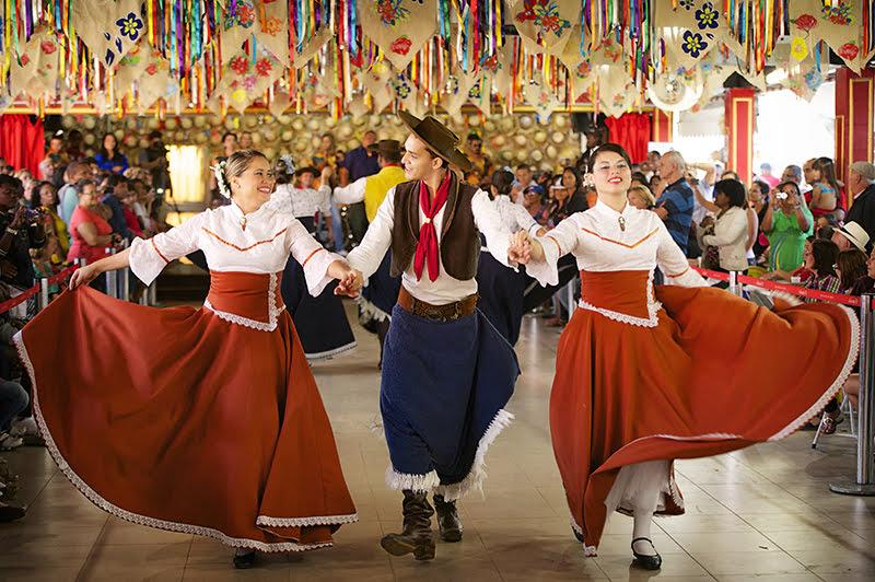 Dança gaucha no sítio jonosake