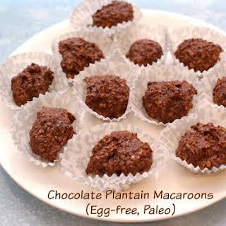 Chocolate Plantain Macaroons (Egg-free, Paleo).