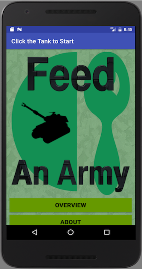 Feed An Army Food Planner- screenshot