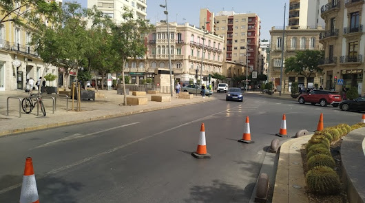 El Paseo de Almería estará totalmente cortado al tráfico hasta el viernes