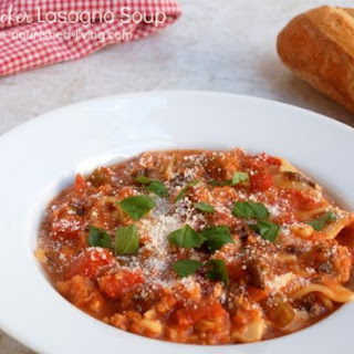 Skinny Slow Cooker Lasagna Soup.