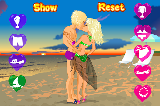 Kissing on a Beach Dress Up
